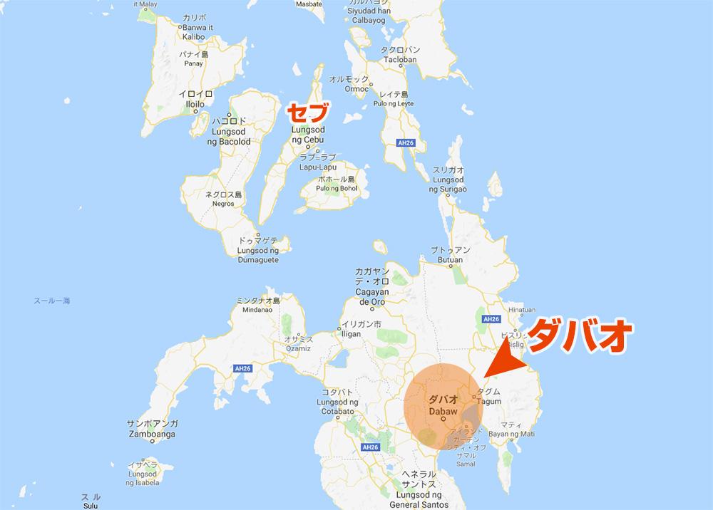 ダバオ Map