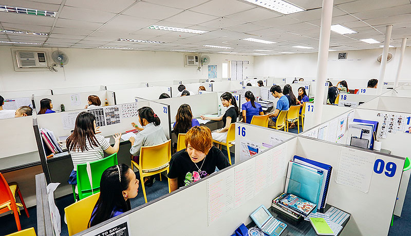 フィリピン留学 First English Global College in セブ島 - Man to Man Class Room