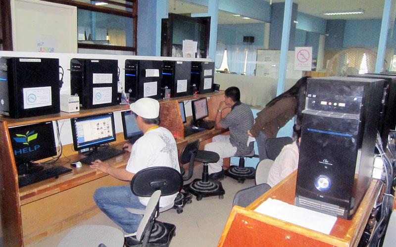 フィリピン留学 HELP LONGLONG - PCルーム