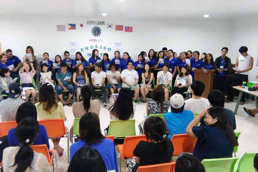 フィリピン留学 C2 Ubec English Academy - 卒業式