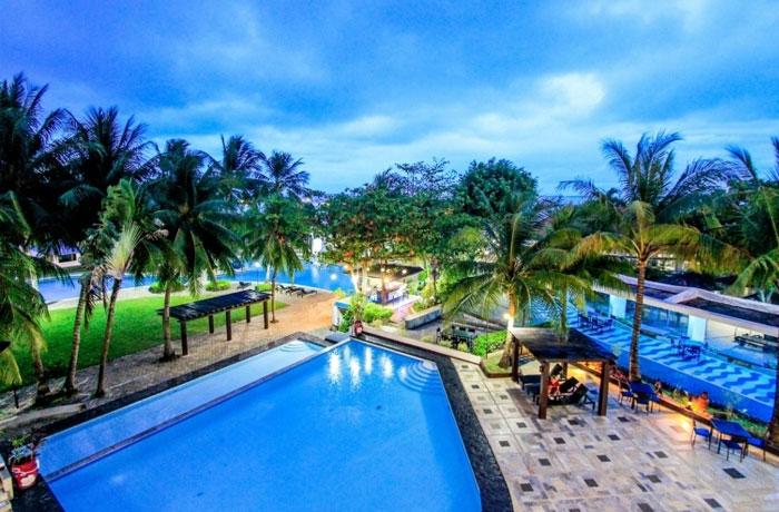 フィリピン留学 JIC CEBU - ホテルのプール施設等が無料で使用可能!
