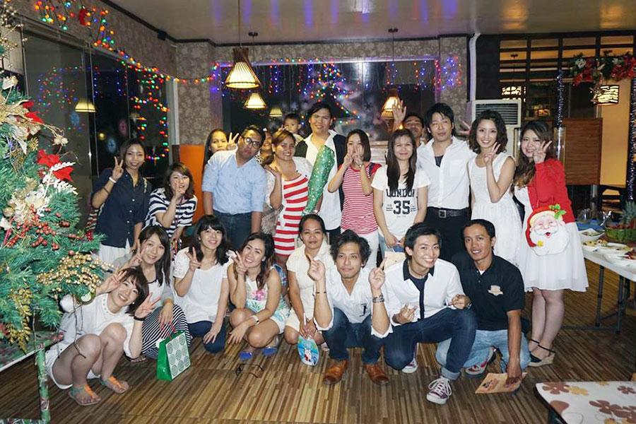フィリピン留学 Cebu English Academy - クリスマスパ^ティー