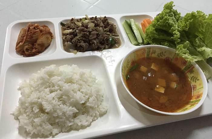 フィリピン留学 E&G International Language Center 夕食