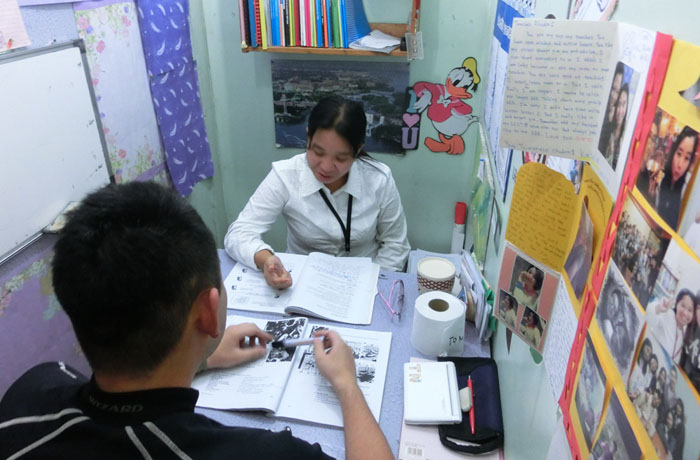 フィリピン留学 JIC BAGUIO - マンツーマン講義室