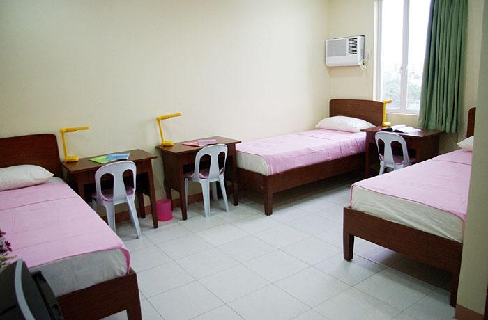 フィリピン留学 JIC CEBU - 3人部屋