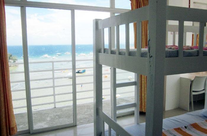 フィリピン留学 QQ English Seafront - 女性6人部屋からの眺め