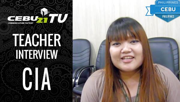 フィリピン留学 CIA Teacher Melinda Interview