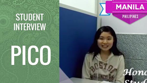 フィリピン留学 PICO 学生インタビュー